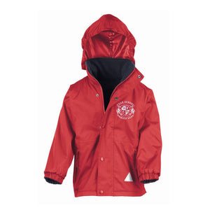 Lady Hastings CE School Waterproof Jacket - Red/Navy
