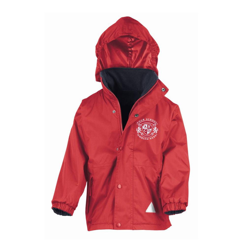 Methven Primary School Waterproof Jacket - Red/Navy