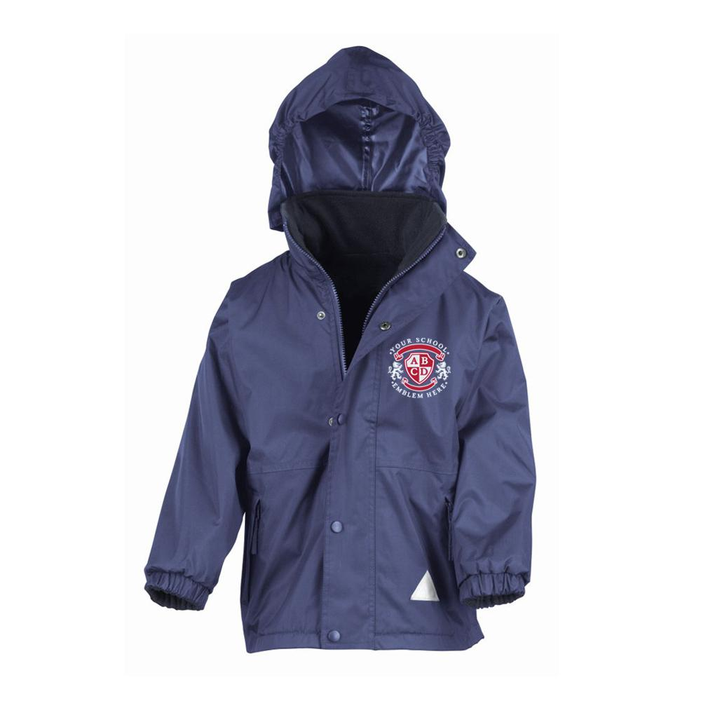 Wigton Moor Primary School Waterproof Jacket - Navy/Royal Blue