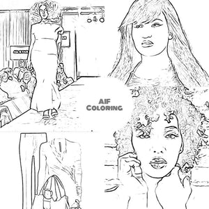 The All is Fair in Love and Fashion Coloring Book