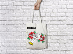 'Cross My Heart' Tote Bag - Natural