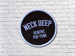 'Generic Pop Punk' Patch - Black/White