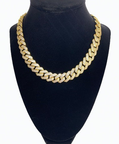 Diamond Cuban Link Chain - Yellow Gold