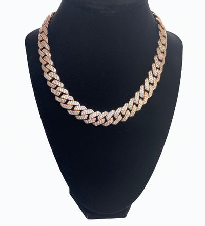 Diamond Cuban Link Chain - Rose Gold