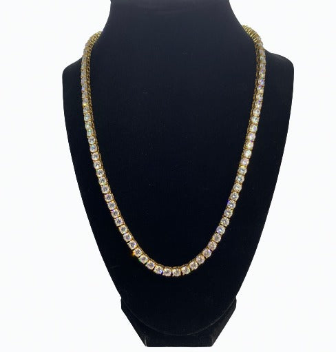 Tennis Chain (5MM) - YELLOW GOLD