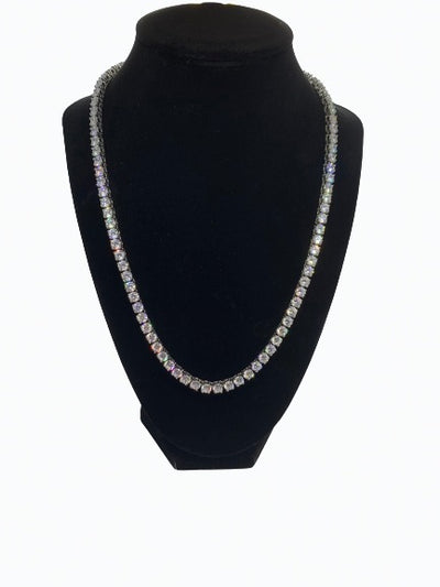Tennis Chain (5MM) - WHITE GOLD