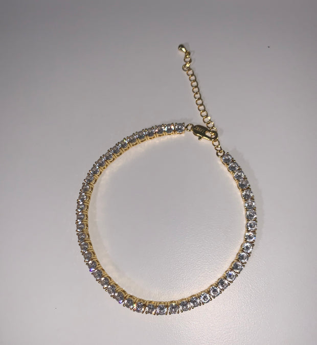 Tennis style Anklet