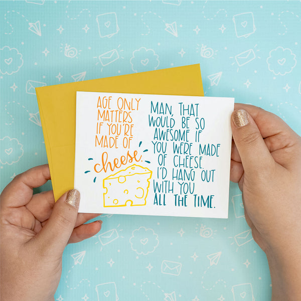 Made of Cheese Birthday Card - 6 single cards