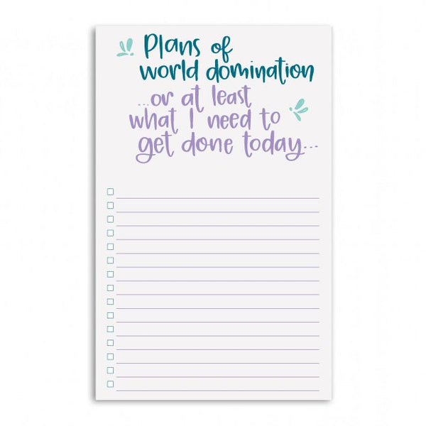 World Domination Notepad - 6 notepads