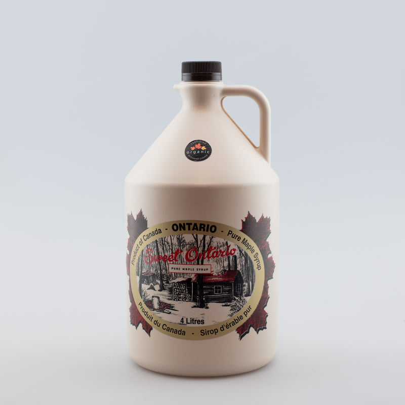 Pure Organic Maple Syrup - 4 litre plastic jug