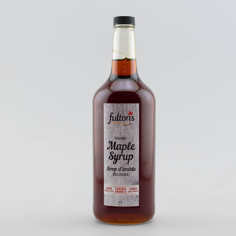 Pure Organic Maple Syrup - 1 litre glass bottle