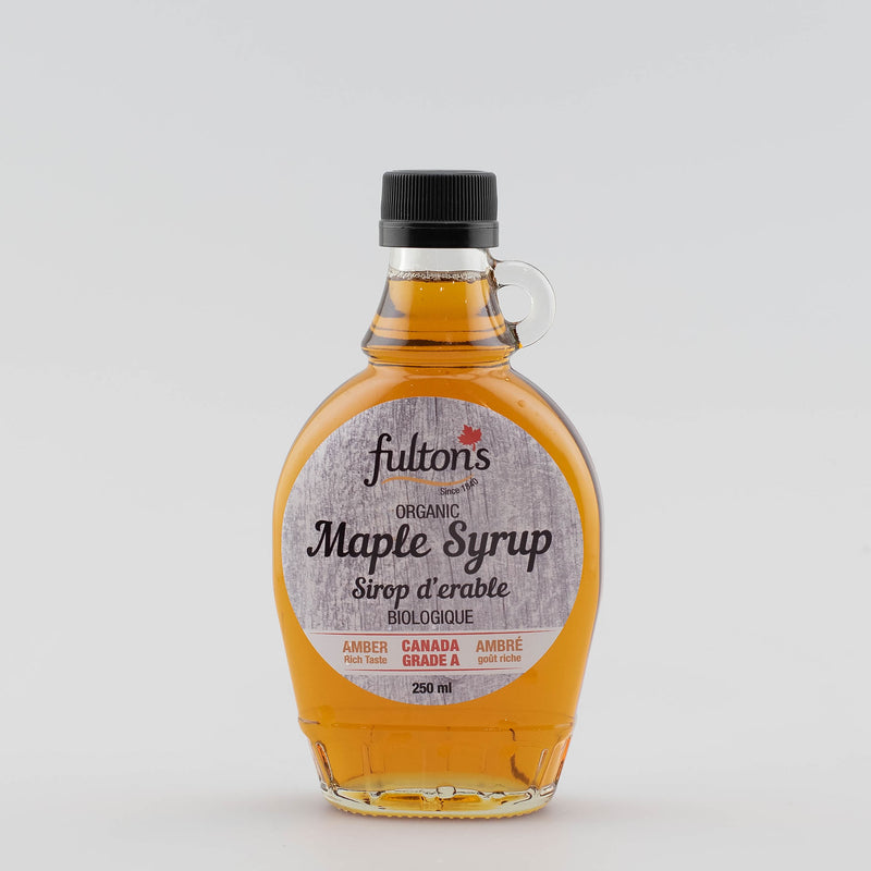 Pure Organic Maple Syrup - 250ml glass bottle