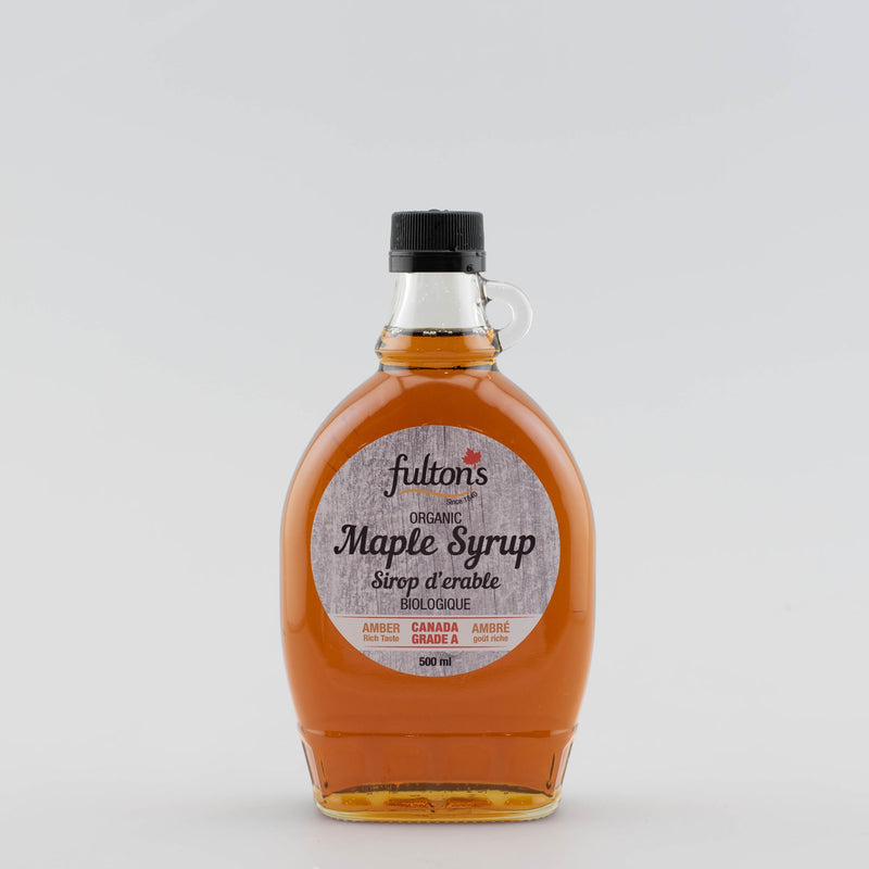 Pure Organic Maple Syrup - 500ml glass bottle