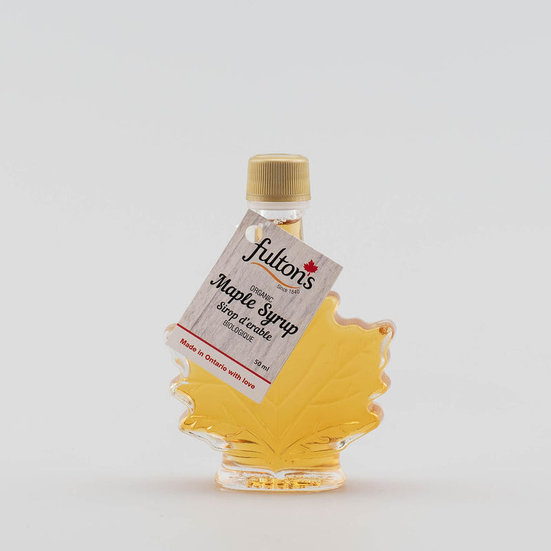 Pure Organic Maple Syrup - Glass Fancy Leaf