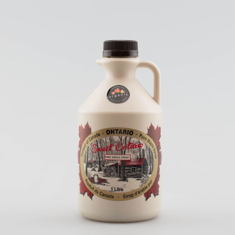 Pure Organic Maple Syrup - 1 litre plastic jug