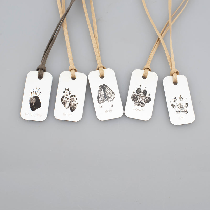 Silver Shingle Necklaces - Animal Prints