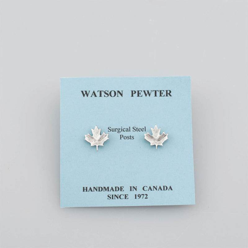 Pewter Maple Leaf Earrings