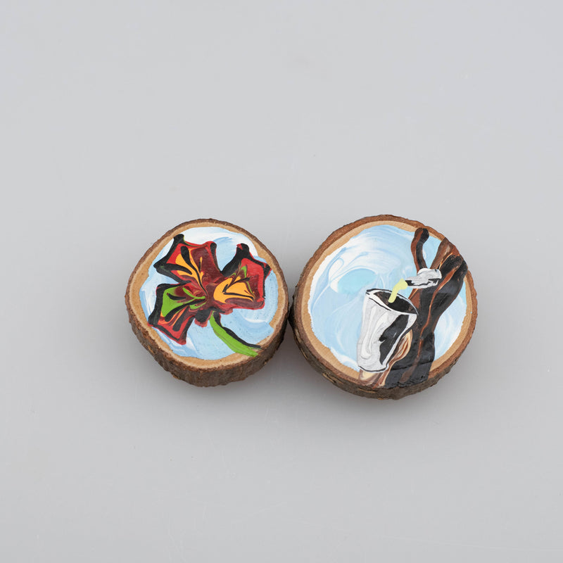 Wooden Painted Magnets