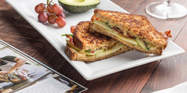Gouda, Bacon and Apple Grilled Cheese - Angelic Bakehouse