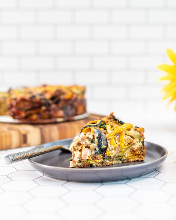 Fresh Veggie Breakfast Strata - Angelic Bakehouse