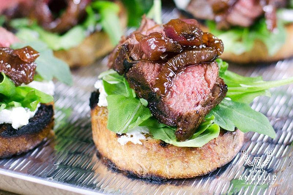 Steak and Arugula Bruschetta - Angelic Bakehouse