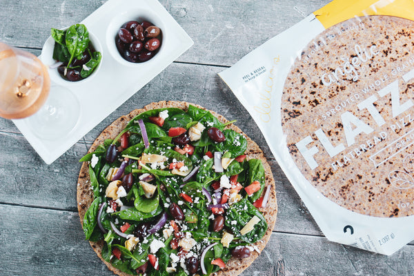 Green & Greek Salad Pizza