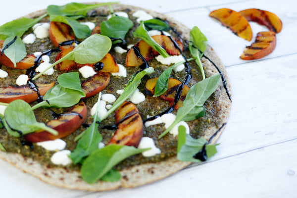 Pesto Peachy Pizza