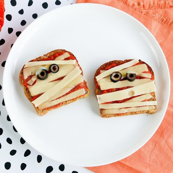 Halloween Pizza Toast - Angelic Bakehouse