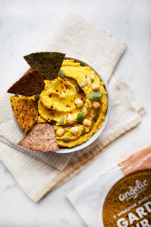 Roasted Sweet Potato & Turmeric Hummus