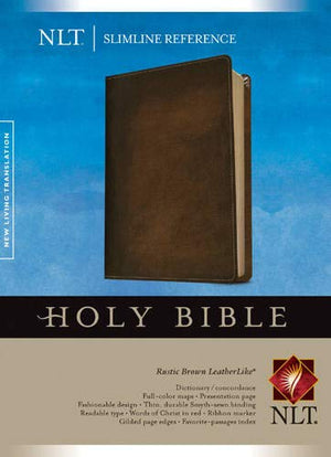 NLT Slimline Reference Bible, Rustic Brown Imitation Leather