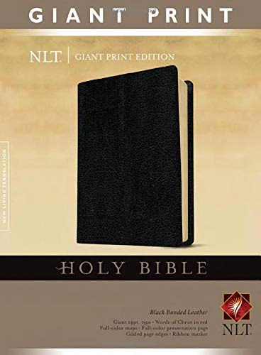 NLT Holy Bible, Giant Print, Black Bonded Leather – Large Print,