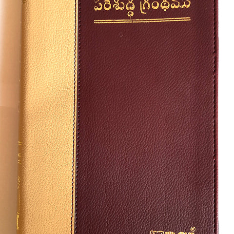 Holy Bible Telugu O.V. Deluxe Zip Gold Gilt Containing Old and New Testament BSI (Telugu) - తెలుగు బైబిల్ గోల్డ్  ఎడ్జ్