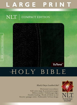 NLT Compact Edition Bible Large Print, Black/Onyx, Indexed (Bible Nlt Index Edition) Imitation Leather – Large Print