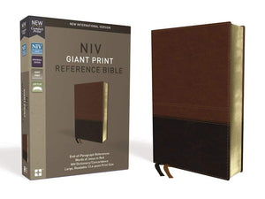 NIV, Reference Bible, Giant Print, Leathersoft, Brown, Red L Imitation Leather – Large Print,
