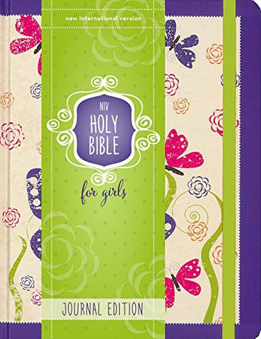 NIV Holy Bible for Girls, Journal Edition, Hardcover, Pink, Elastic Closure Hardcover