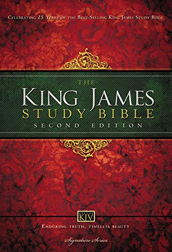KJV Study Bible, Large Print, Hardcover, Red Letter Edition: Second Edition Hardcover