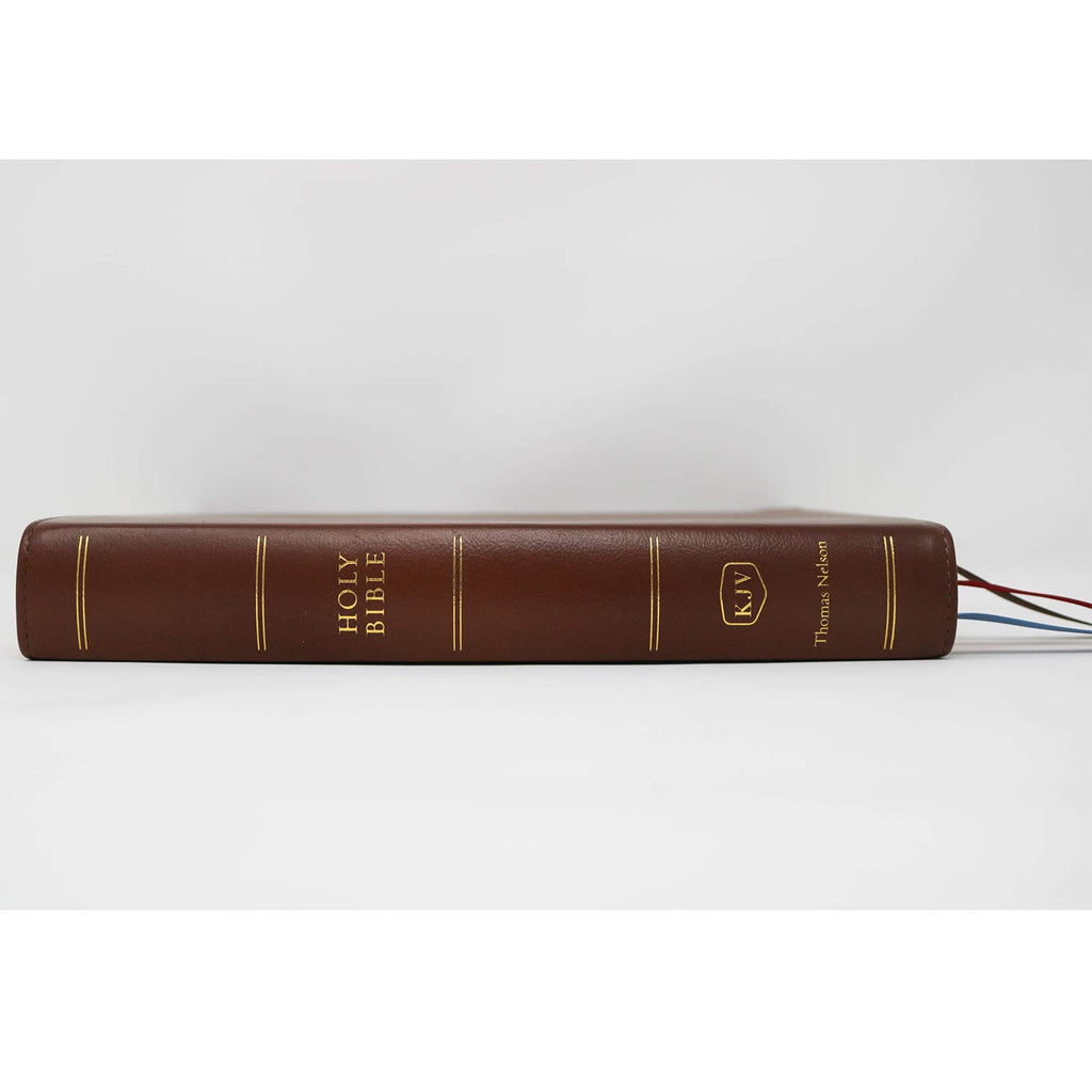 KJV, Preaching Bible, Premium Calfskin Leather, Brown, Comfort Print: Holy Bible, King James Version Leather Bound – 7 February 2019
