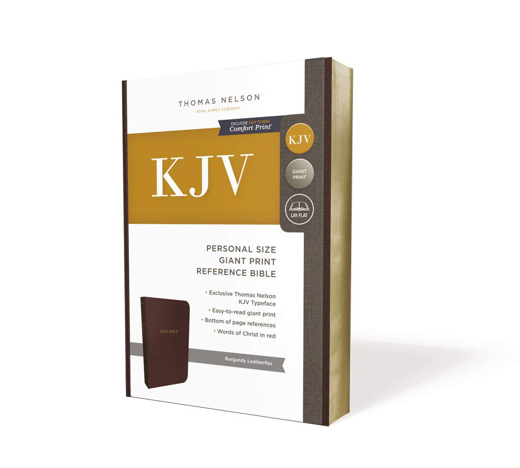 KJV, Reference Bible, Personal Size Giant Print, Leather-Look, Burgundy, Red Letter Edition, Comfort Print: Holy Bible, King James Version Imitation Leather