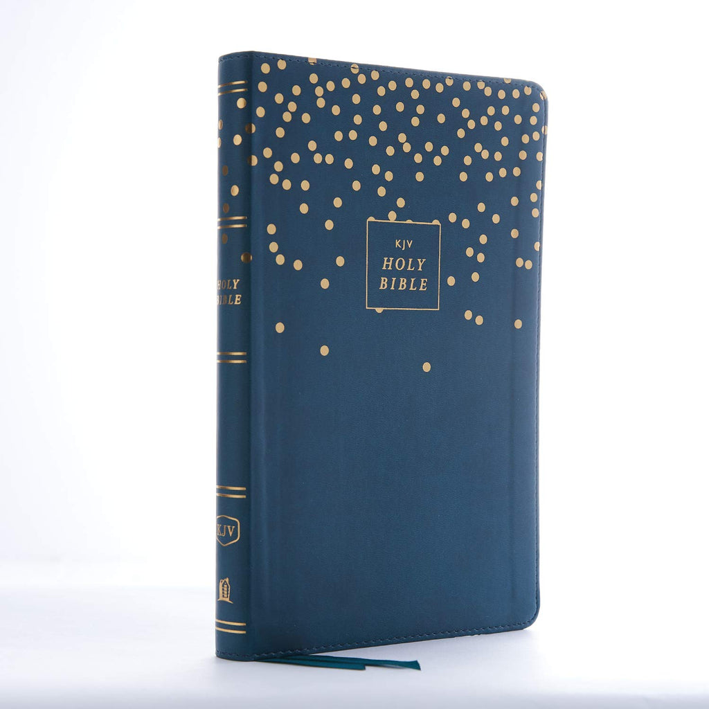 KJV, Thinline Bible Youth Edition, Leathersoft, Blue, Red Letter Edition, Comfort Print: Holy Bible, King James Version Imitation Leather – Import, 21 March 2019