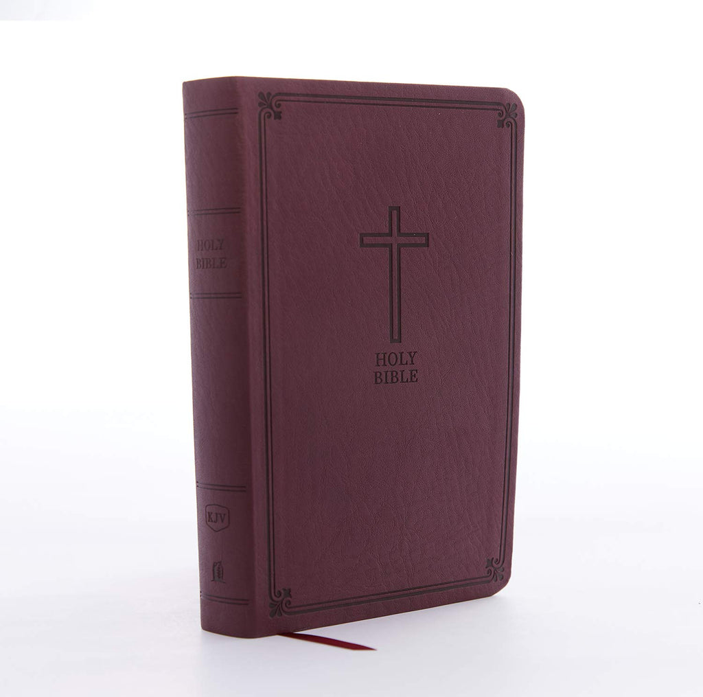 KJV, Reference Bible, Personal Size Giant Print, Leathersoft, Burgundy, Thumb Indexed, Red Letter Edition, Comfort Print: Holy Bible, King James Version Imitation Leather – Large Print,