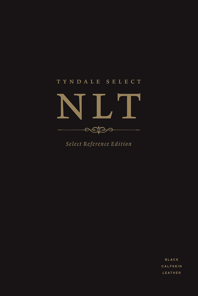 NLT Tyndale Select Reference Edition, Black Calfskin Leather Leather Bound
