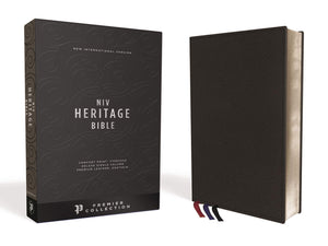 Holy Bible: New International Version, Heritage Bible, Black, Single-column, Premium Leather, Sterling Edition, Comfort Print Leather Bound
