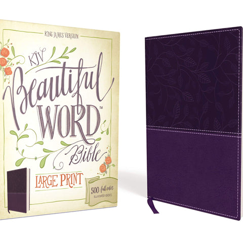 KJV, Beautiful Word Bible, Large Print, Hardcover, Red Letter Edition: 500 Full-Color Illustrated Verses Imitation Leather – Illustrated,