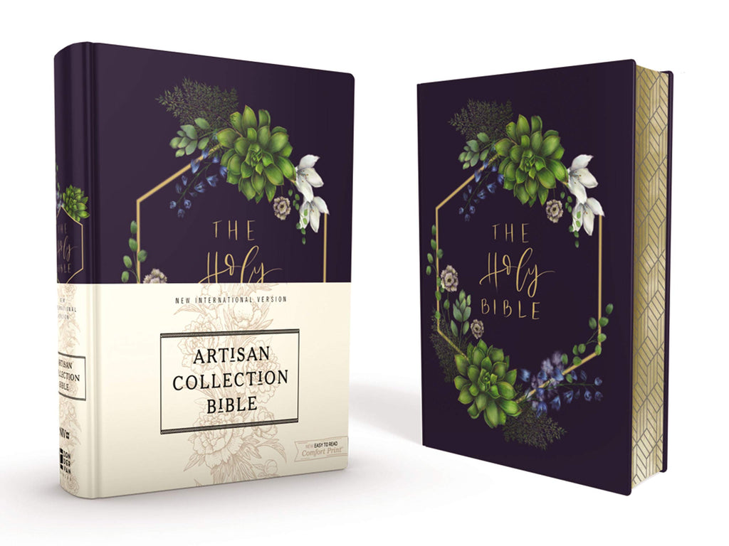 NIV, Artisan Collection Bible, Cloth over Board, Navy Floral Hardcover – Import,
