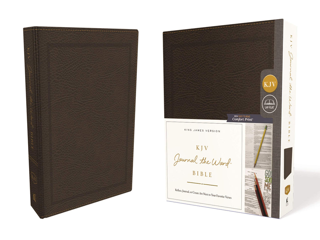 KJV Journal the Word Bible: King James Version, Brown, Bonded Leather: Reflect, Journal, or Create Art Next to Your Favorite Verses: Red Letter Edition, Comfort Print Bonded Leather – Import,