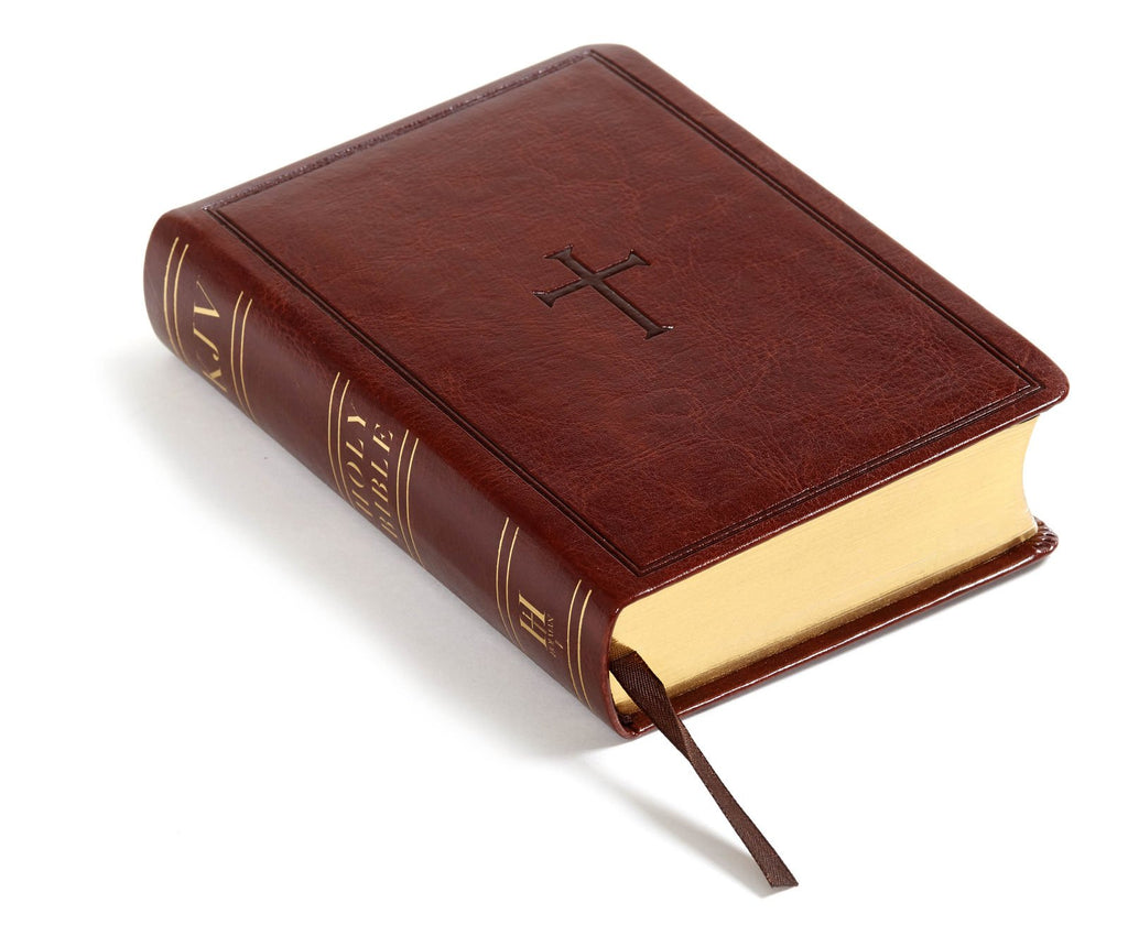 KJV Large Print Compact Reference Bible, Brown LeatherTouch Imitation Leather – Large Print,