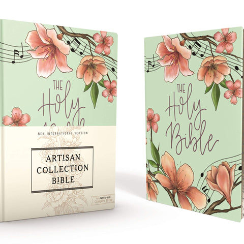 NIV Journal the Word Bible: New International Version, Turquoise Floral / Cloth over Board: Artisan Collection Bible: Red Letter Edition, Comfort Print Hardcover – Import, 26 February 2019