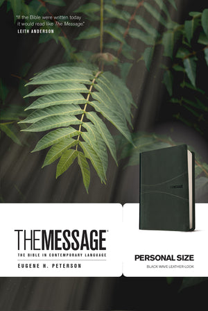 Message Bible, Personal Size, Black Imitation Leather – 20 November 2015