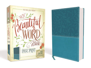 NKJV, Beautiful Word Bible, Large Print, Leathersoft, Teal, Red Letter Edition: 500 Full-Color Illustrated Verses Imitation Leather – Illustrated,