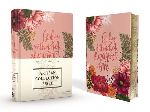 NIV, Artisan Collection Bible, Cloth over Board, Pink Floral Hardcover – Import, 26 February 2019